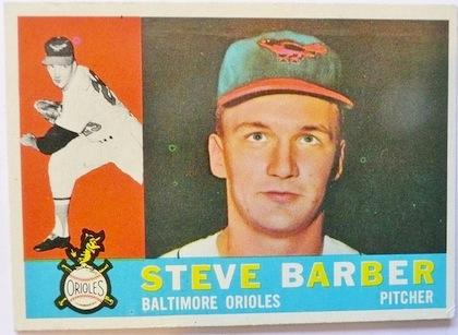 steve barber baseball card no-hitter