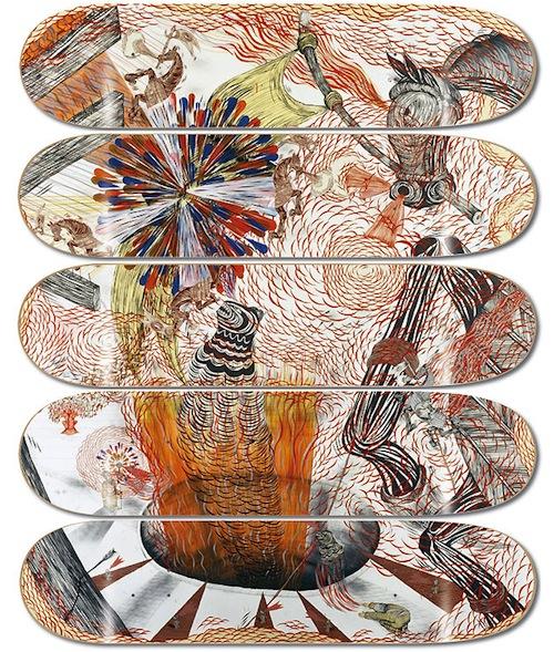 #1 andrew schoultz decks skateboard art