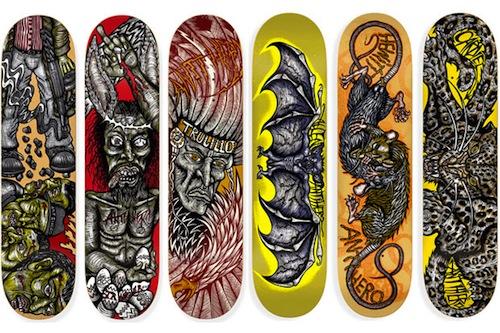 #10 dennis mcnett decks skateboard art graphics