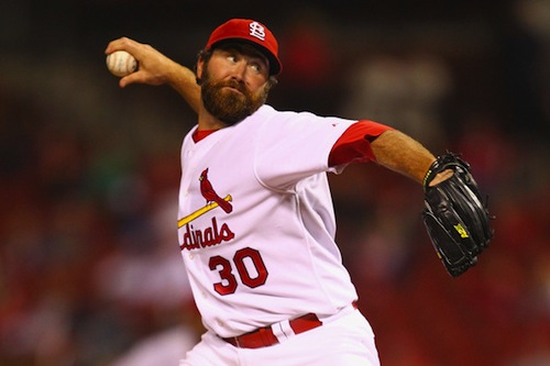 #10 jason motte st. louis cardinals pitcher