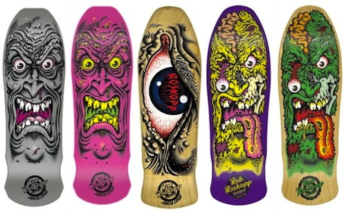 #11 jim phillips Santa-Cruz-Rob-Roskopp-Skateboard-Decks art graphics