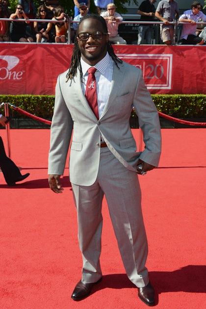 #15 Trent Richardson on red carpet at 2012 ESPY Awards