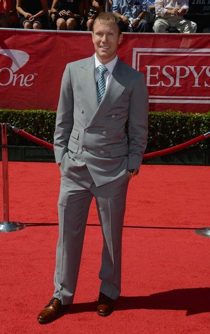 #16 John Thomas Hall (Team Walk On Founder) on red carpet at 2012 ESPY Awards