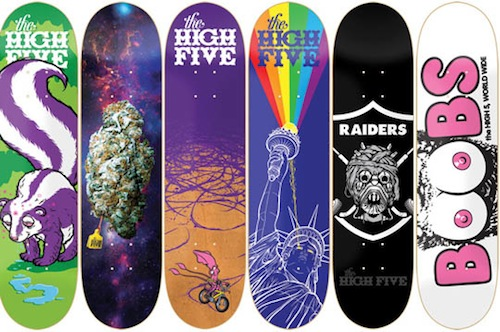 #16 todd bratrud the_high_five_decks skateboard art graphics