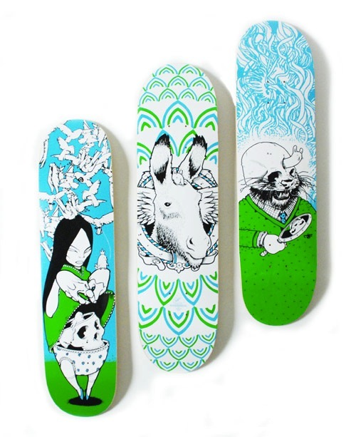 #17 jeremy fish skateboard decks art graphics