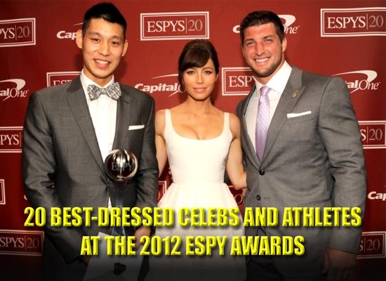 2012 ESPY awards red carpet best-dressed