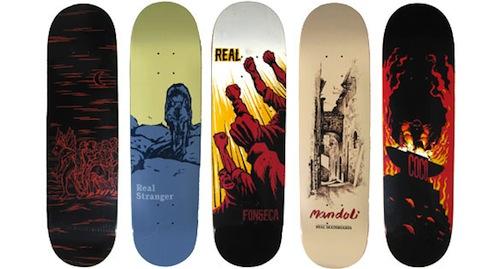 #24 todd francis real skateboard decks art graphics