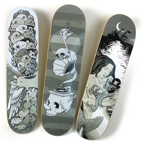 #25 michael sieben skateboard decks art graphics 2