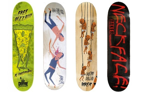 #27 NeckFace skateboard art graphics