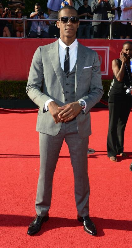 #4 Rajon Rondo on red carpet at 2012 ESPY Awards