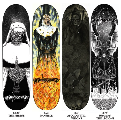 #5 french witchcraft skateboard decks art graphics