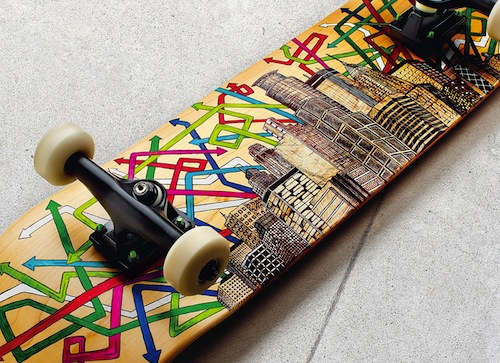 #6 mark rivard skateboard art 1