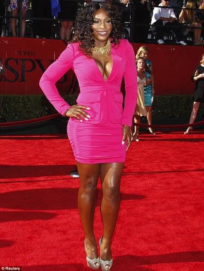 #7 Serena Williams on red carpet at 2012 ESPY Awards