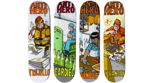 #7 todd francis anti-hero skateboard decks art graphics