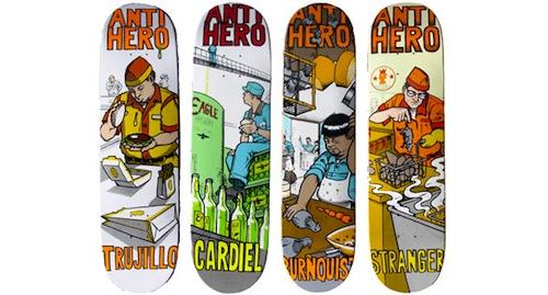 #7 todd francis anti-hero skateboard decks art graphics