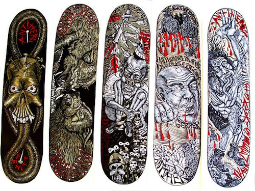 #9 dennis mcnett decks skateboard art graphics 2