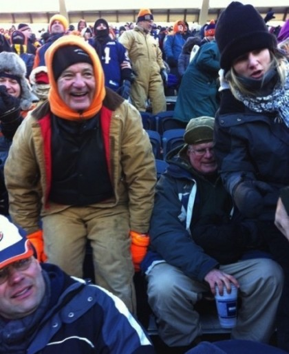 bill murray-bears packers nfc championship game