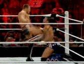 C.M. Punk Reenacts Silva vs. Sonnen During Monday Night Raw Match (GIF)