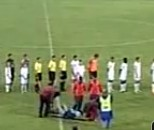 Cameraman Trips, Falls, Carried Off On Stretcher During National Anthem At Russian Soccer Game (Video)