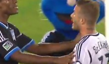 David Beckham Lost His Cool On The San Jose Earthquakes And Their Mascot (Video)
