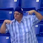 dodgers fan dancing at mariners game extra innings