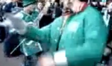 Saskatchewan Roughriders Fan Passes Out Drunk During Pre-Game Festivities (Video)