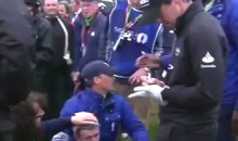 Rory McIlroy's Tee Shot Clocks Guy in the Head at British Open (Video)