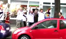 Drunk German Soccer Fans Cheer On Woman Trying To Parallel Park (Video)