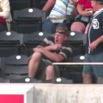 guy hit in chest by baseball