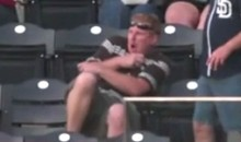 Guy Updating Facebook Status At Padres Game Gets Hit In Chest By Foul Ball (Video)