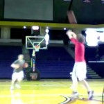 guy sets world record for half-court shots made in 1 minute
