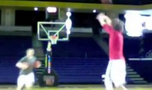 Watch This Guy Set The World Record For Most Half-Court Shots Made In One Minute (Video)