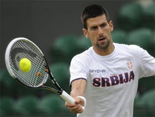Novak Djokovic playing tennis