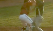 Minor League Catcher Obliterates Base Runner During Collision At The Plate (Video)