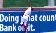 Did Phillies Prospect Jiwan James Make An Insane Bare-Handed Catch Over The Outfield Wall? (Video)