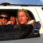 lakers fans pass a beer to steve nash on freeway