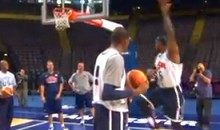 "LeBron Unveils New ""Unstoppable Move"" At Team USA Shoot-Around (Video)"