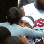 michelle obama hugging usa basketballl players