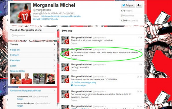 morganella michel twitter racism