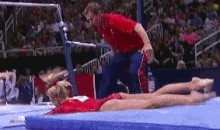 Nastia Liukin's Gymnastics Career Ends With Face-Plant On Uneven Bars (GIF)