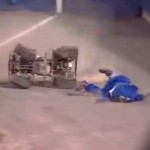 norfolk tides mascot riptide atv wipeout faceplant