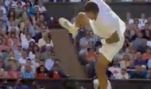 Jo-Wilfried Tsonga Takes Nasty Nut Shot Off Racket Of Andy Murray At Wimbledon Semifinal (Video)