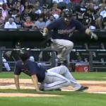 twins bat boy almost takes out ryan doumit