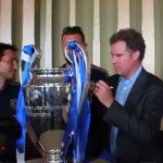 will ferrell signing champions league trophy
