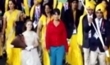 Woman Crashes Indian Delegation's Walk-In At Olympics Opening Ceremonies