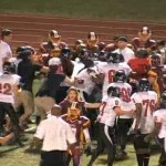 women's football alliance bench-clearing brawl
