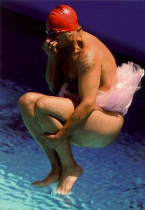 world swimming championships mark roberts streaking in tutu