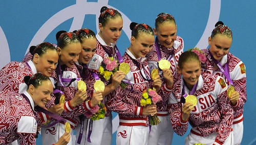 #10 russian synchornized swimming team gold