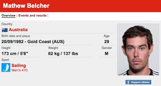 #12 Matthew Belcher funny olympic names