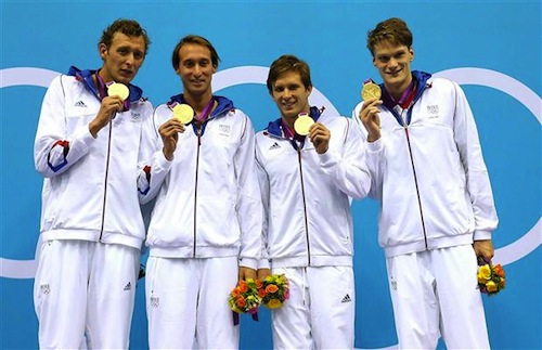 #12 french swimming relay gold medal